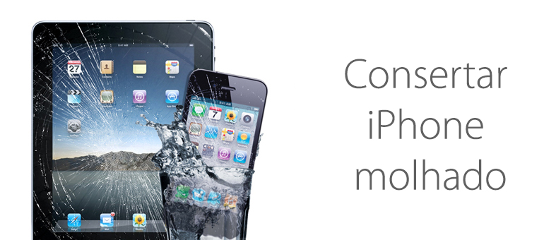 Consertar iPhone molhado
