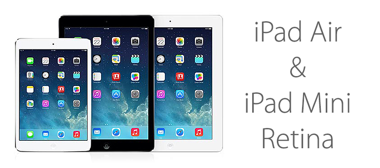 iPad Air e iPad mini Retina