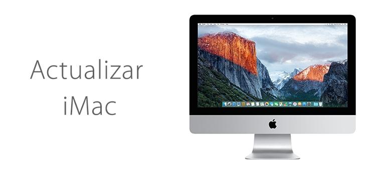 Actualizar el sistema operativo de iMac