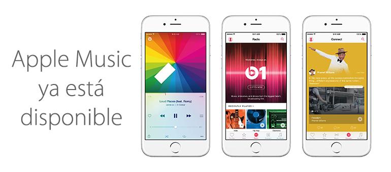 Apple Music ya está disponible