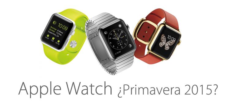Apple Watch podría llegar a las tiendas en primavera de 2015