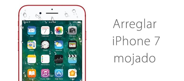 Solución para iPhone mojado 7 no enciende