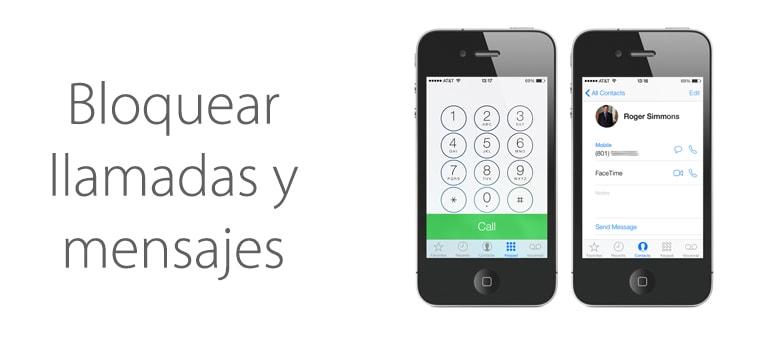 Bloquear llamadas y mensajes en iPhone