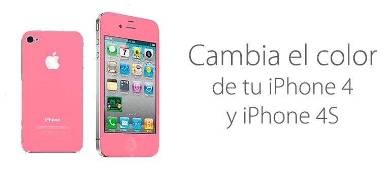 Cambia el color de tu iPhone 4 y 4s
