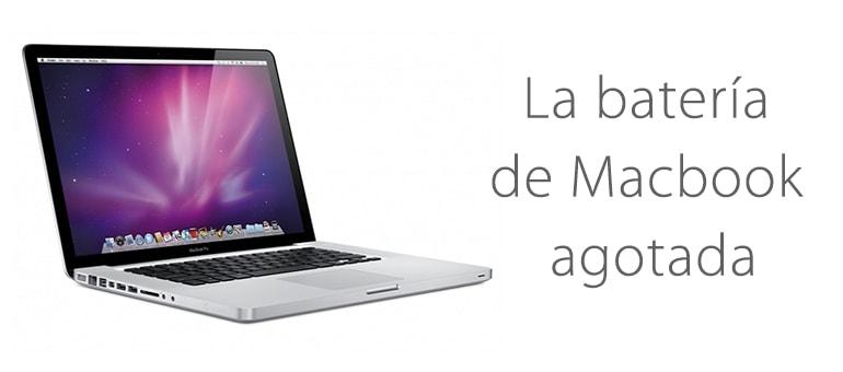 Cambiar la batería de Macbook si está agotada