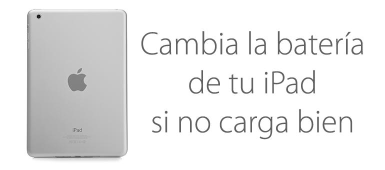 Si iPad no carga la batería puede estar fallando
