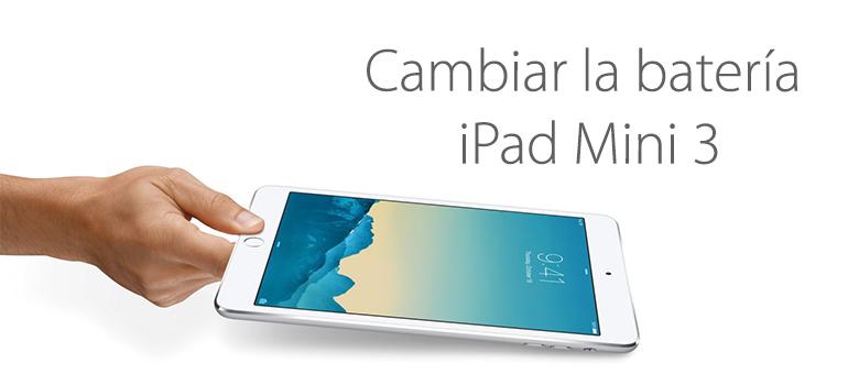 Puedes cambiar la batería de tu iPad Mini 3 con iFixRapid