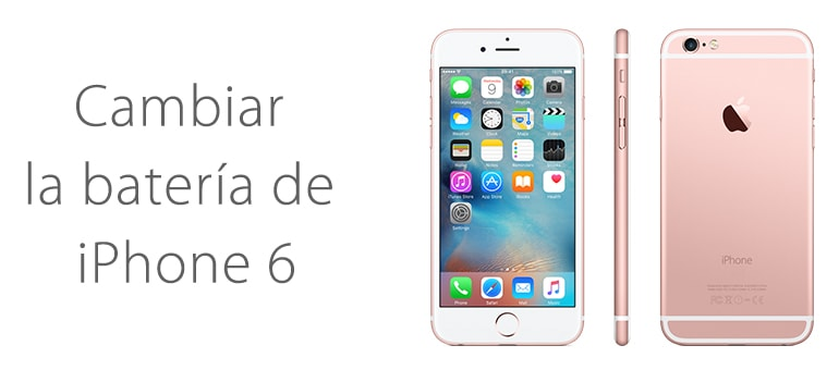 Cambio de batería para iPhone 6 en Madrid