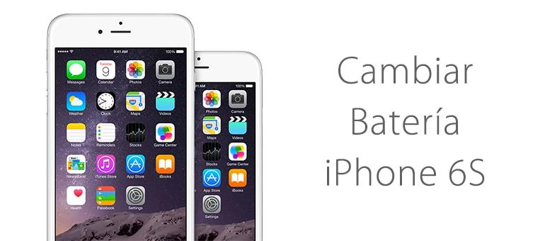 Cambiar batería de iPhone 6s si dura muy poco
