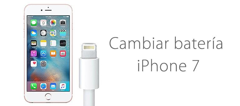 Cambiar batería iPhone 7 en Servicio Técnico