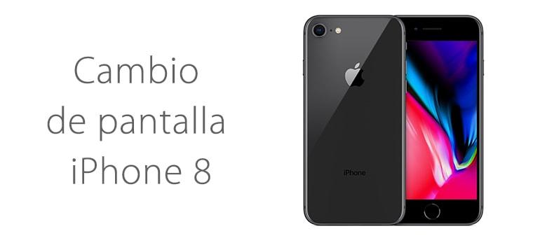 Cambiar el cristal de la pantalla rota de iPhone 8