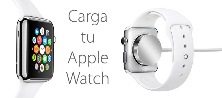 ¿Cómo se carga Apple Watch?
