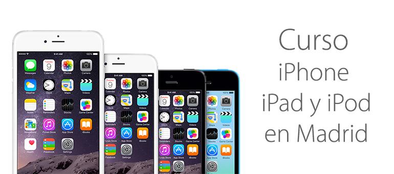 Cursos para iPhone, iPad y iPod en Madrid