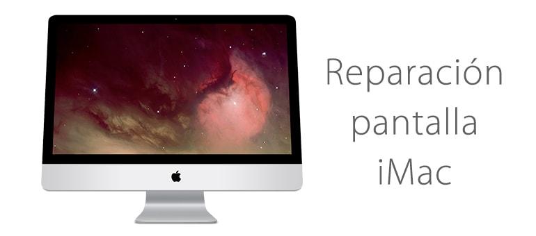 Reparar la pantalla de iMac si tiene líneas verticales de colores