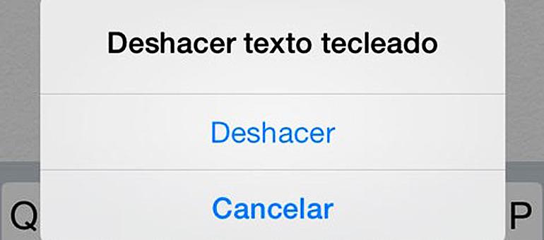 Uso de la función deshacer y rehacer para iPhone