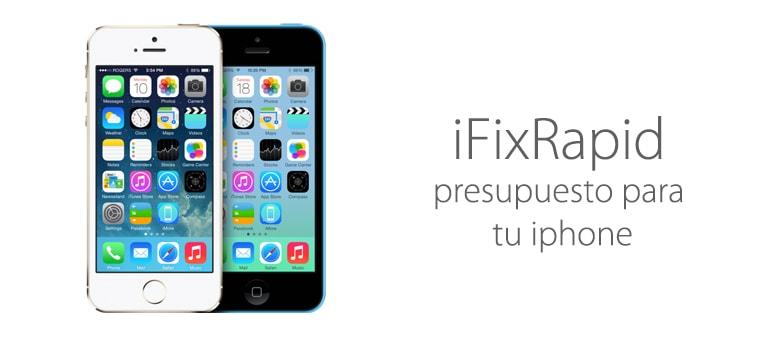 Realiza el presupuesto para la reparación de tu iPhone