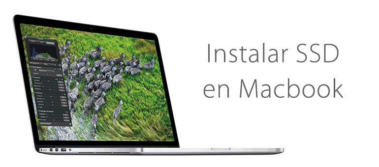 Cambio de disco duro por SSD en MacBook Pro