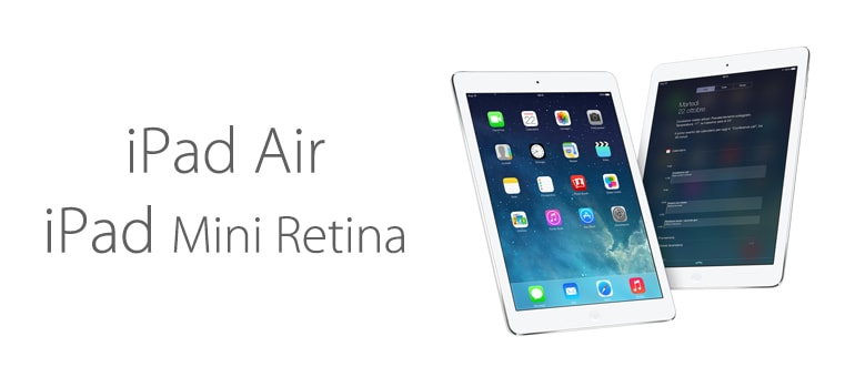 iPad Air y iPad mini Retina