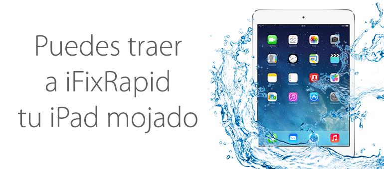 Servicio Técnico para arreglar iPad Mini mojado