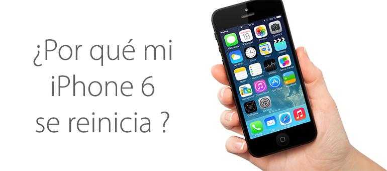 Mi iPhone 6 se reinicia solo ¿Hay solución?