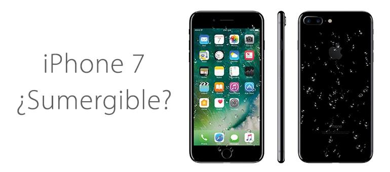 iPhone 7 no es sumergible y es poco resistente al agua