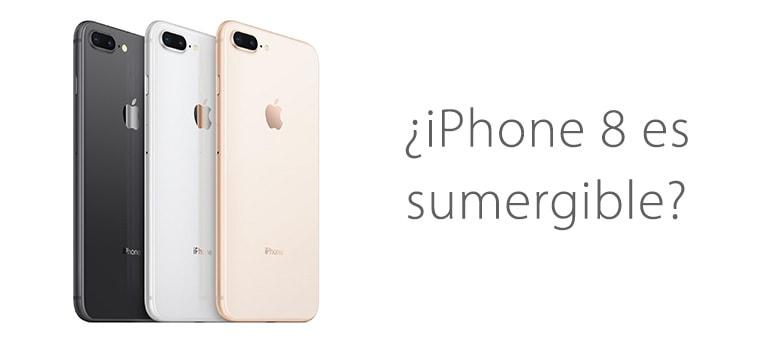 ¿iPhone 8 se puede mojar o sumergir?