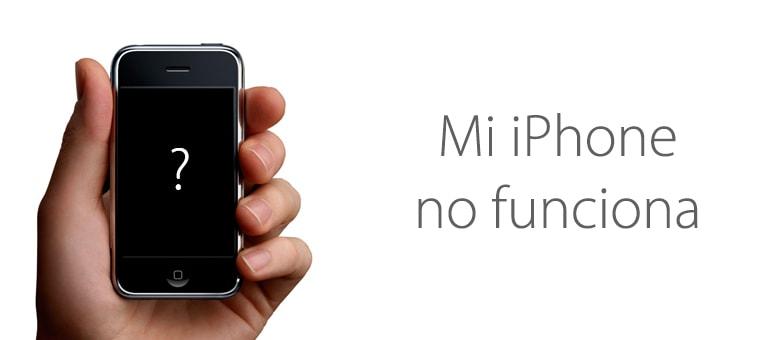 Mi iPhone no enciende