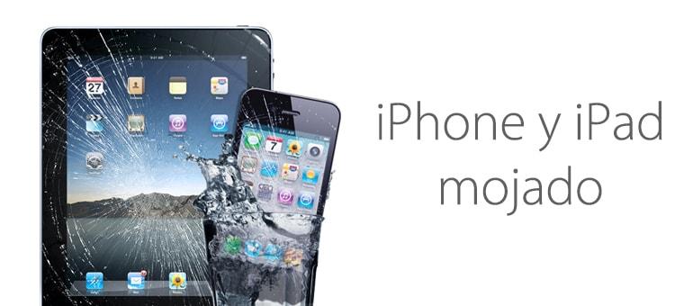 ¿Necesitas reparar tu iPhone o iPad mojado?