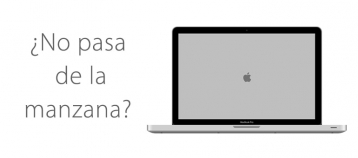 MacBook no pasa de la manzana y no arranca