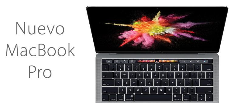 Ya está aquí el nuevo modelo de Macbook Pro con Touch Bar
