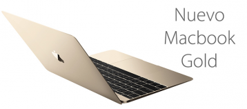 nuevo macbook gold apple