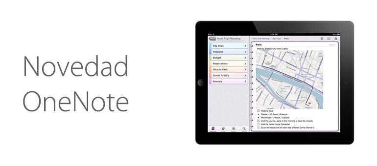 Nueva actualización de OneNote para iOS y Mac.
