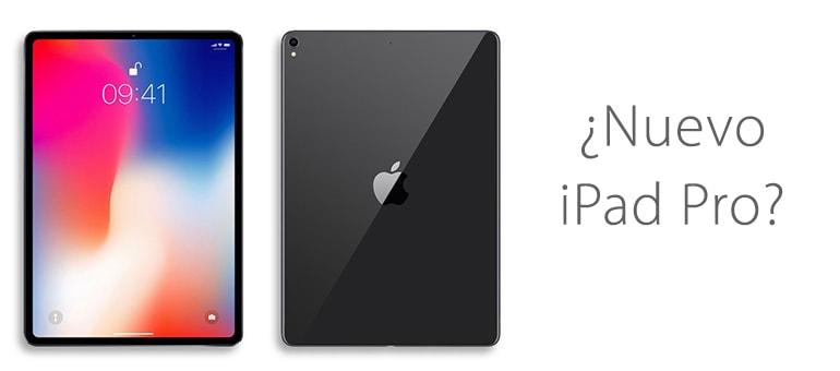 Nuevo iPad Pro 2018 sin bordes y sin botón home