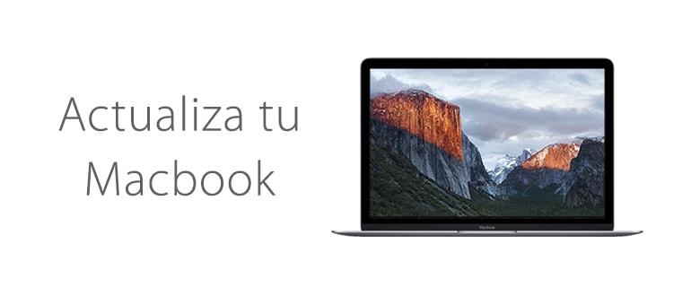 Reinstalar o actualizar el sistema operativo en Macbook