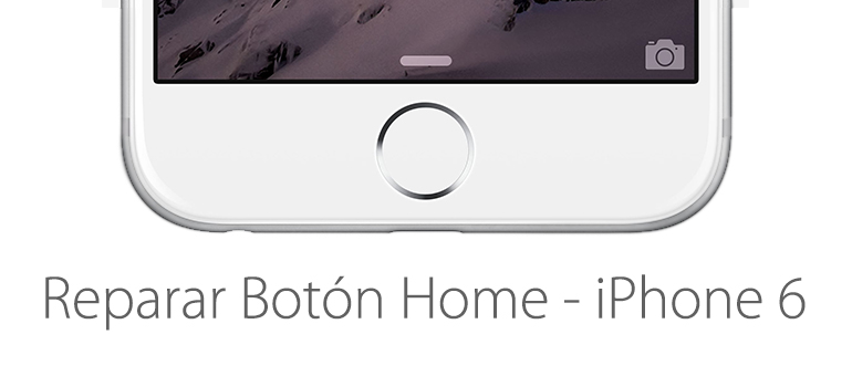 Botón home roto de iPhone 6. iFixRapid lo repara.