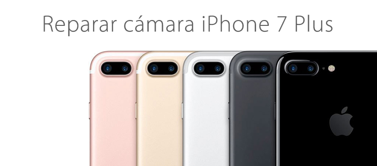 Arregla la cámara rota de tu iPhone 7 Plus