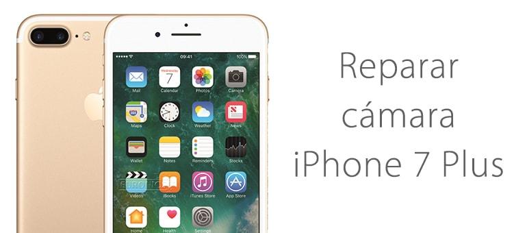 Reparar la cámara de iPhone 7 Plus si se ve en negro o no hace fotos