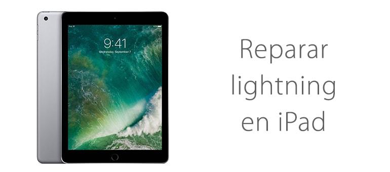Cambiar conector lightning de iPad si no carga