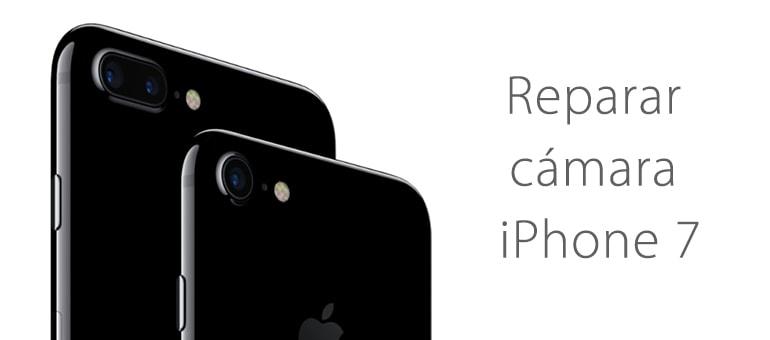 Reparar cristal cámara trasera iPhone 7 y 7 Plus