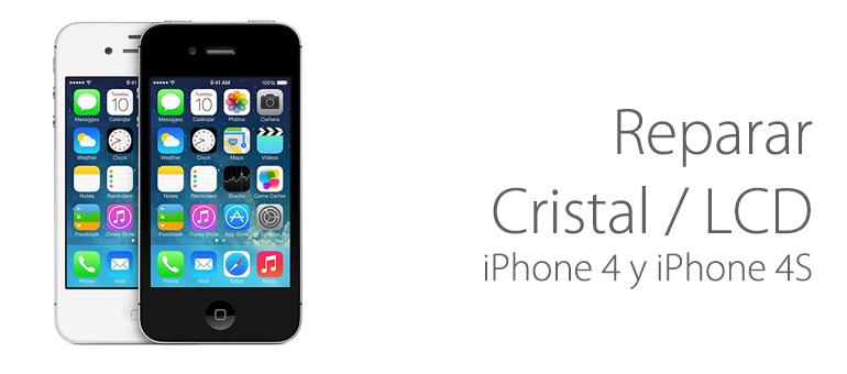 Reparar tu iPhone 4 y iPhone 4S si el cristal o el LCD está roto