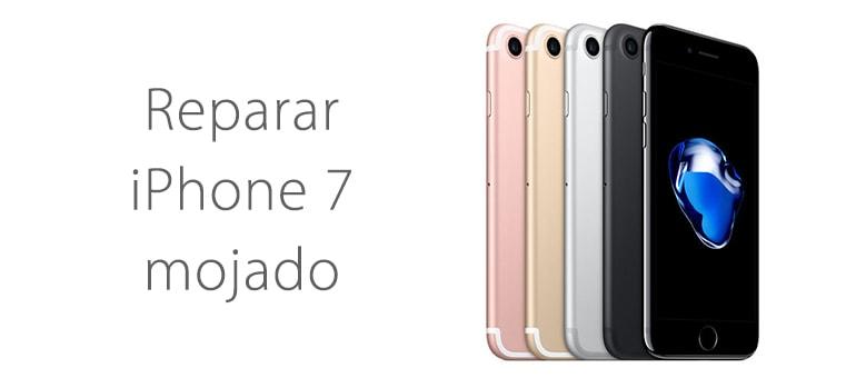 Reparar iPhone 7 mojado si no enciende