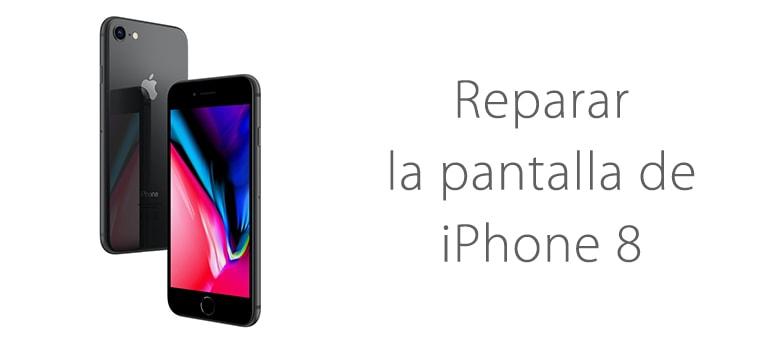 Cambiar la pantalla rota de iPhone 8 en Madrid