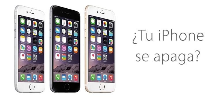 Solución para iPhone 6s si se apaga o se reinicia