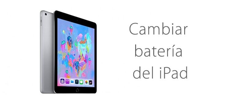 Cambiar batería de iPad si falla