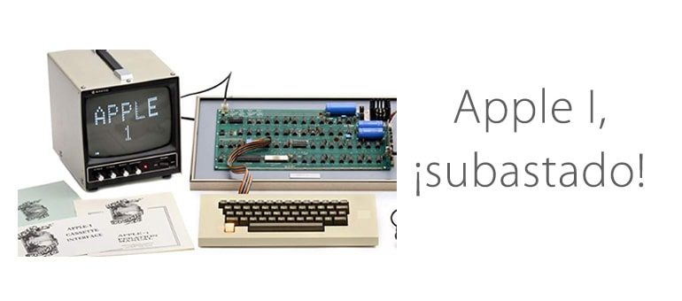El Apple I se subasta por 375,000 dólares