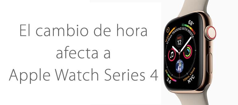 El cambio de hora bloquea el Apple Watch Series 4