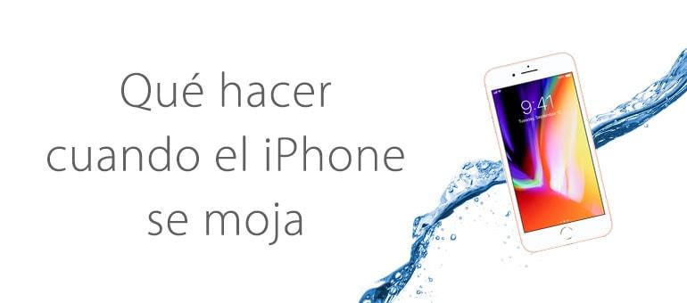 Qué hacer si el iPhone se cae al agua