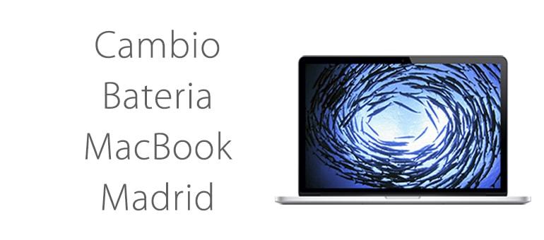 Cambio Batería MacBook Madrid