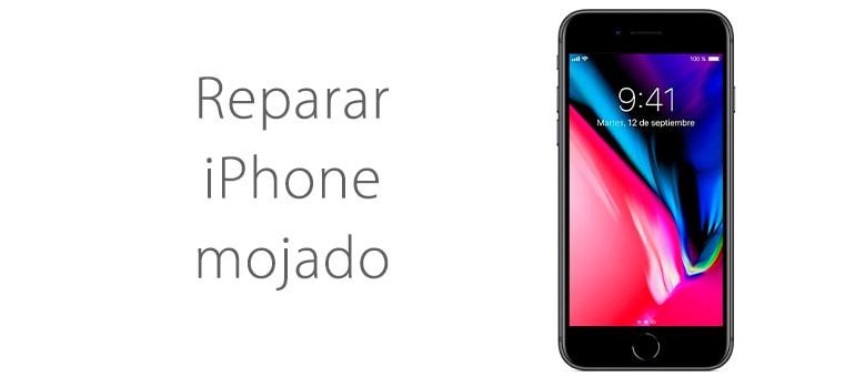Reparar iPhone mojado