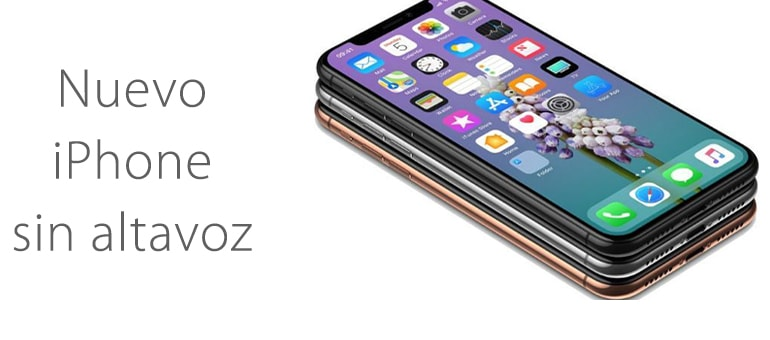 ¿Nuevo iPhone sin altavoces?